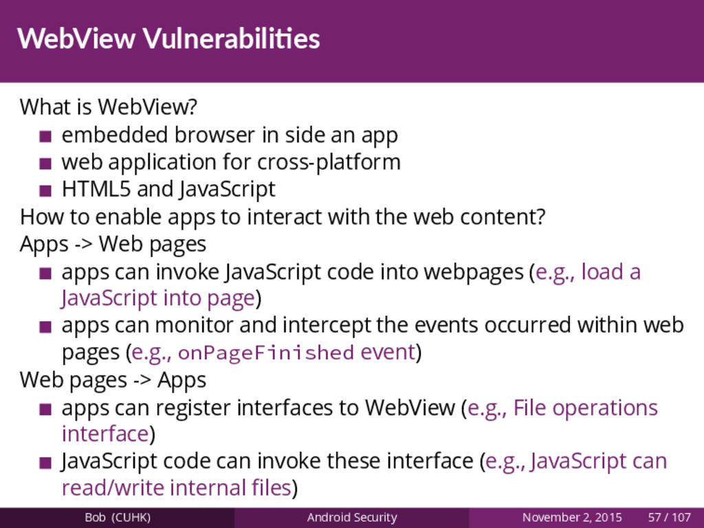 WebView Vulnerabili es What is WebView? embedde...