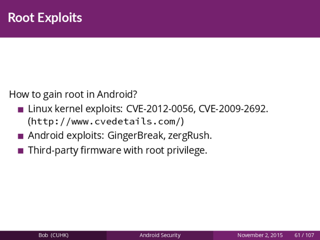 Root Exploits How to gain root in Android? Linu...