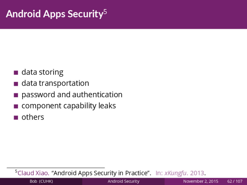 Android Apps Security5 data storing data transp...