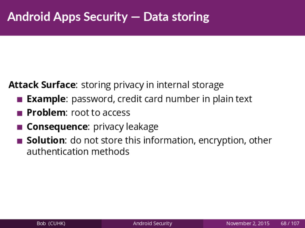 Android Apps Security — Data storing Attack Sur...