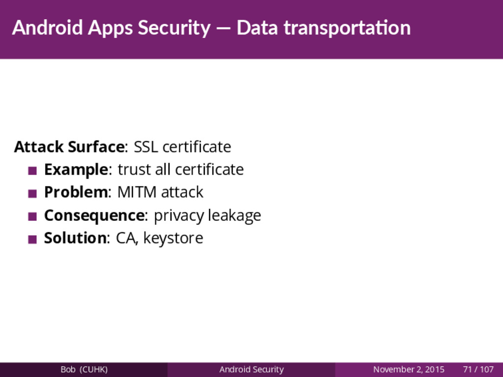 Android Apps Security — Data transporta on Atta...