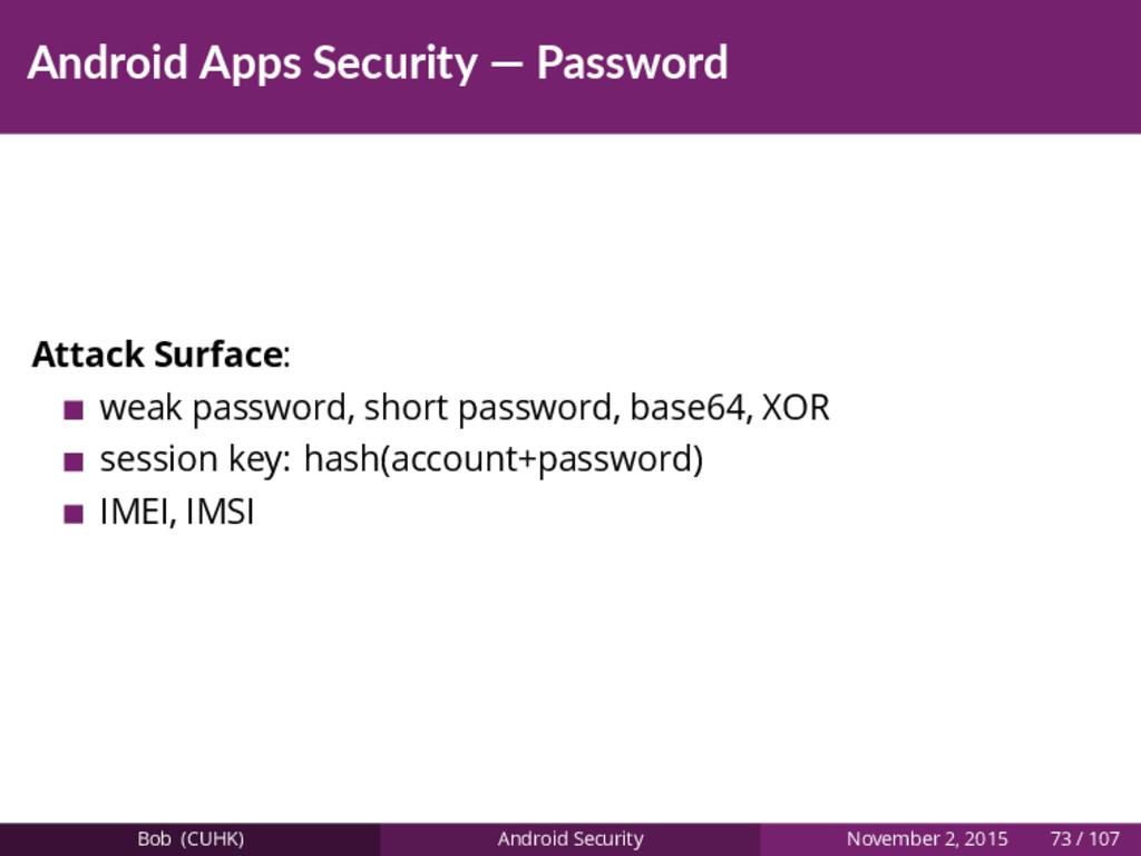 Android Apps Security — Password Attack Surface...