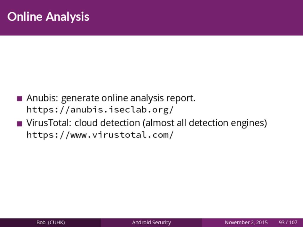 Online Analysis Anubis: generate online analysi...