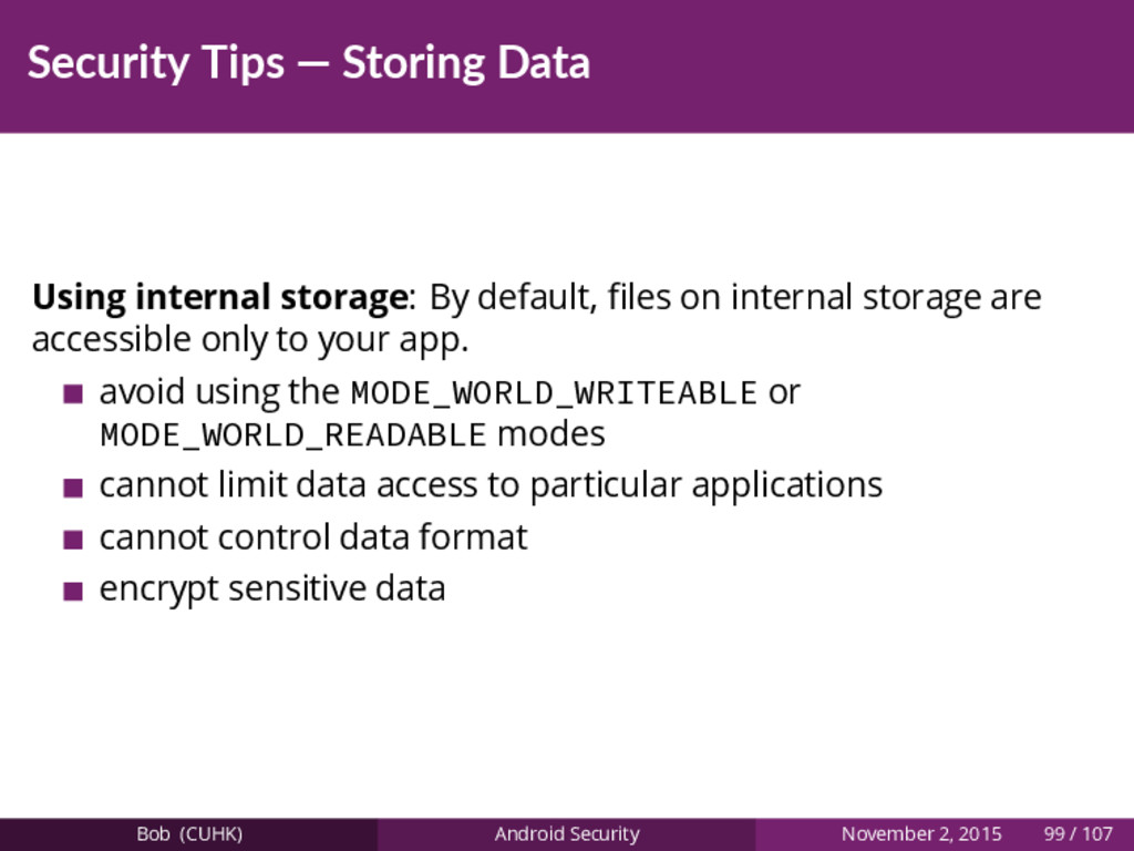 Security Tips — Storing Data Using internal sto...