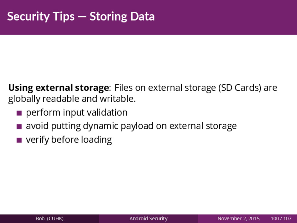 Security Tips — Storing Data Using external sto...