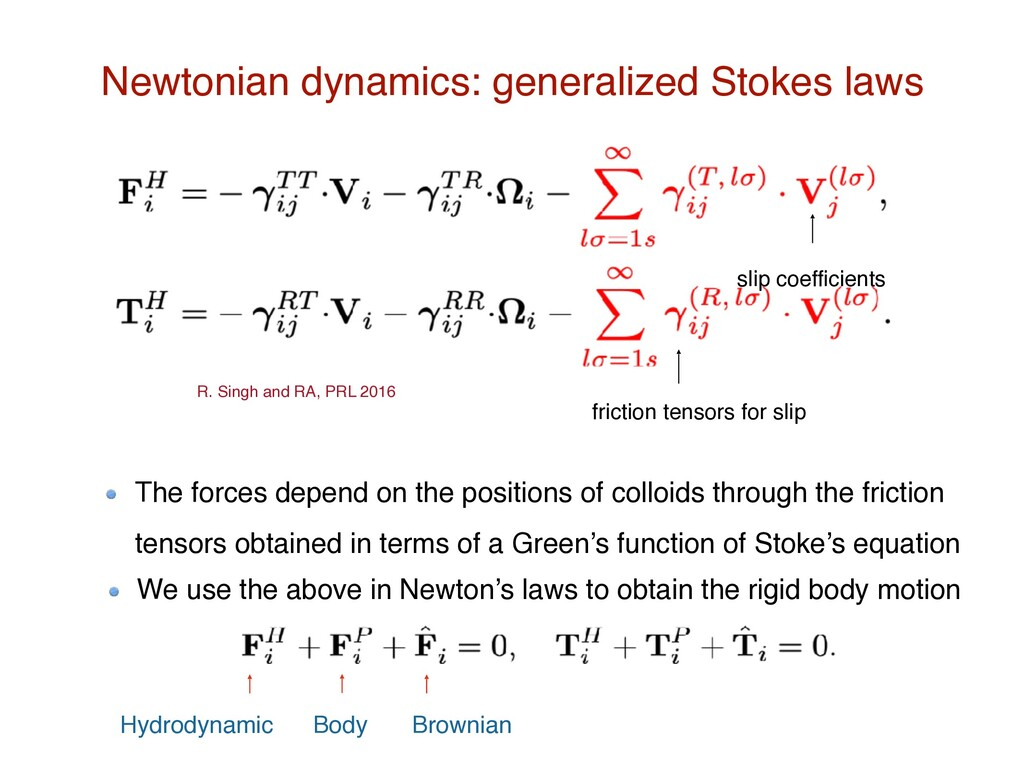 friction tensors for slip slip coefficients New...