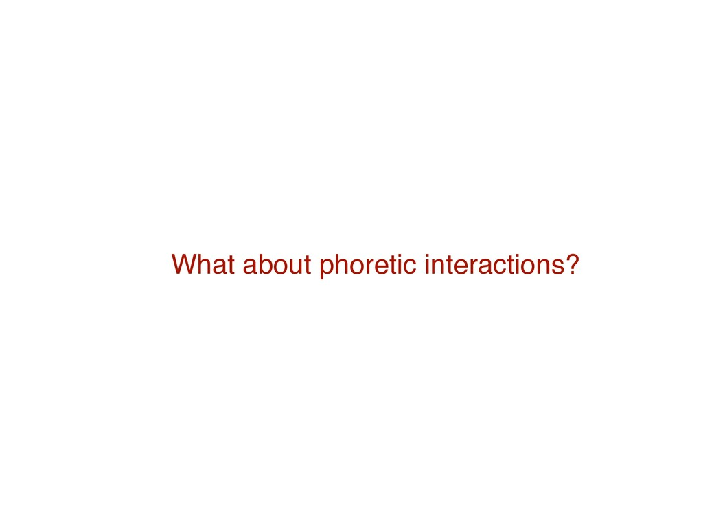 What about phoretic interactions?