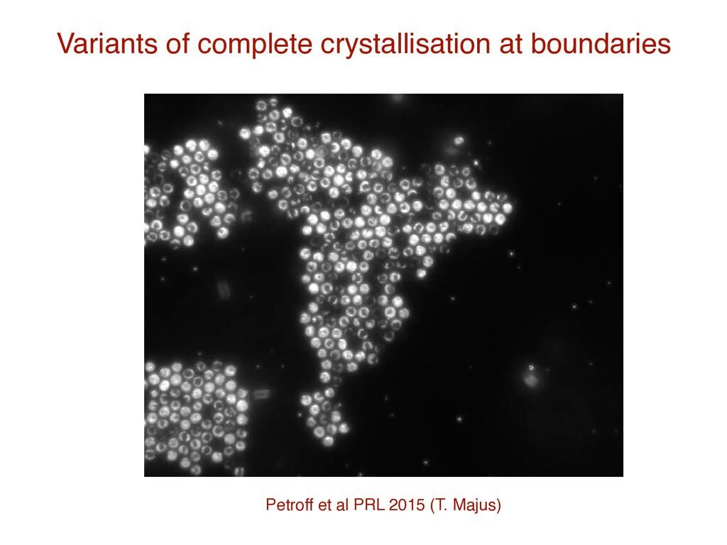 Variants of complete crystallisation at boundar...