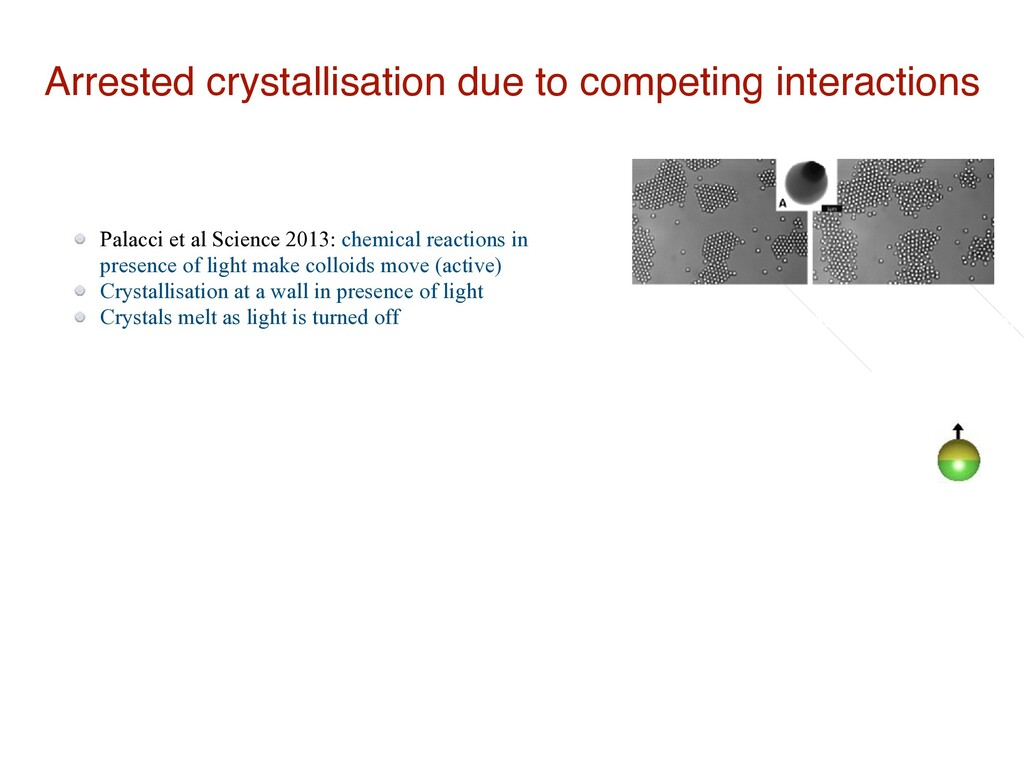 Arrested crystallisation due to competing inter...