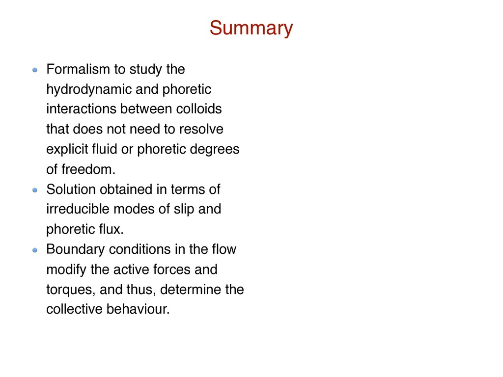 Formalism to study the hydrodynamic and phoreti...