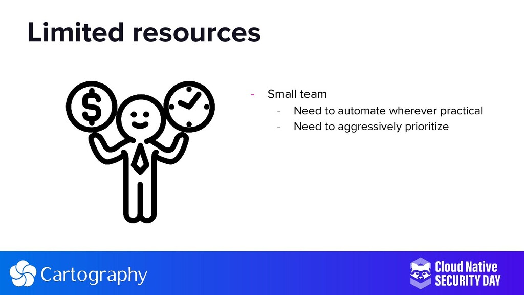 - Small team - Need to automate wherever practi...
