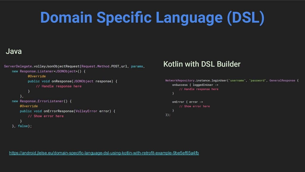 Domain Specific Language (DSL) Java Kotlin with ...