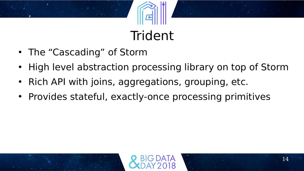 """14 Trident ● The """"Cascading"""" of Storm ● High le..."""