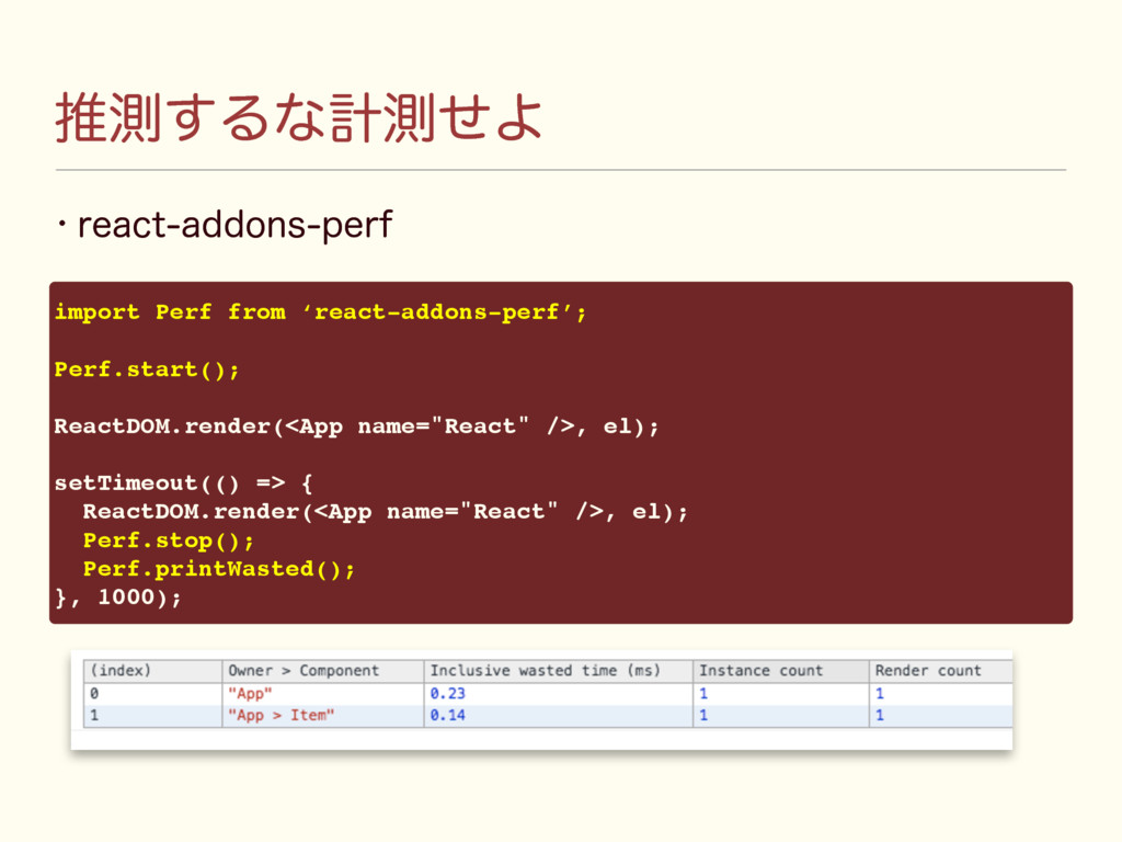 ਪଌ͢ΔͳܭଌͤΑ w SFBDUBEEPOTQFSG import Perf from ...