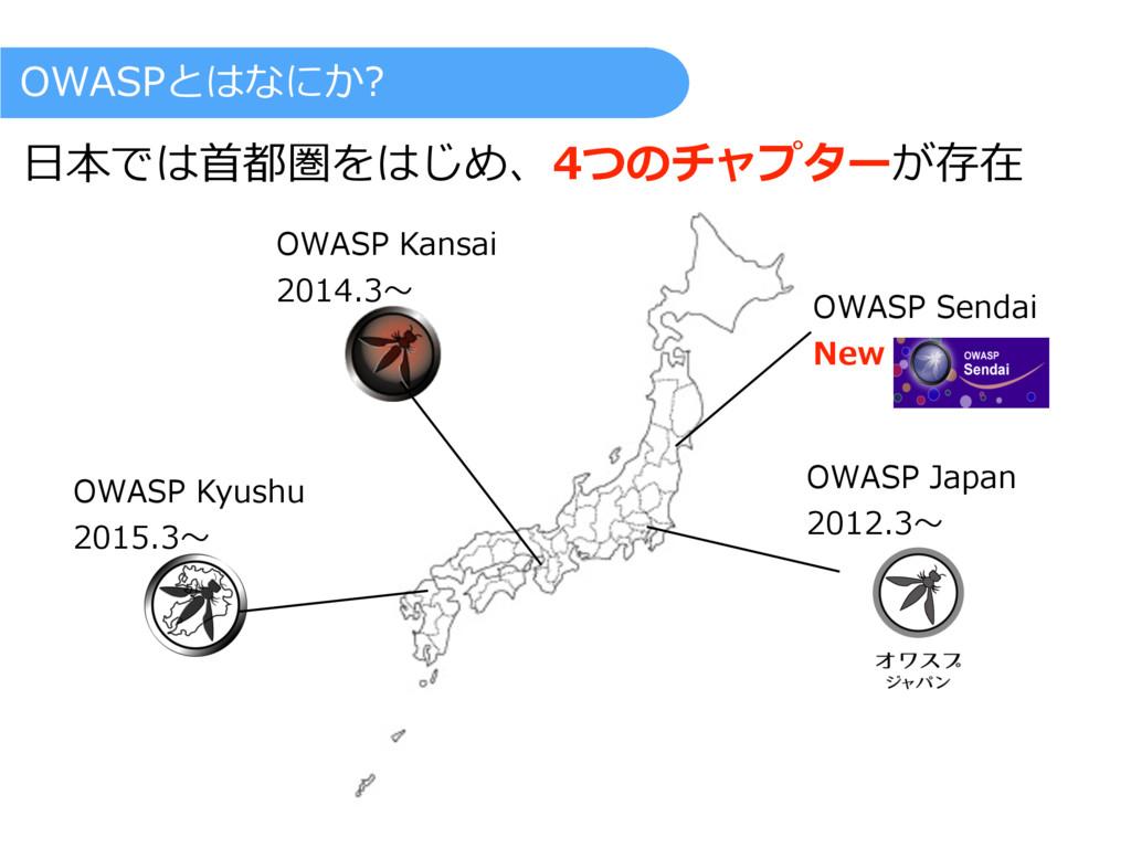 OWASP Kyushu 2015.3〜 OWASP Kansai 2014.3〜 OWASP...