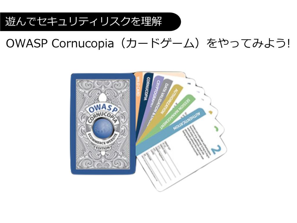 OWASP Cornucopia(カードゲーム)をやってみよう! 遊んでセキュリティリスクを理解