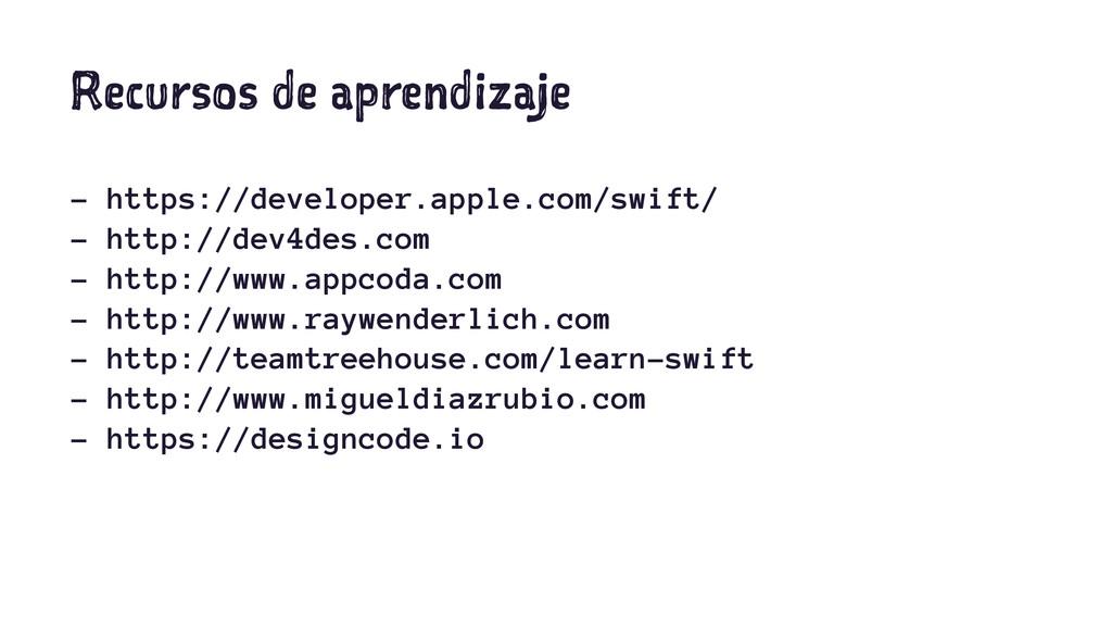 Recursos de aprendizaje - https://developer.app...