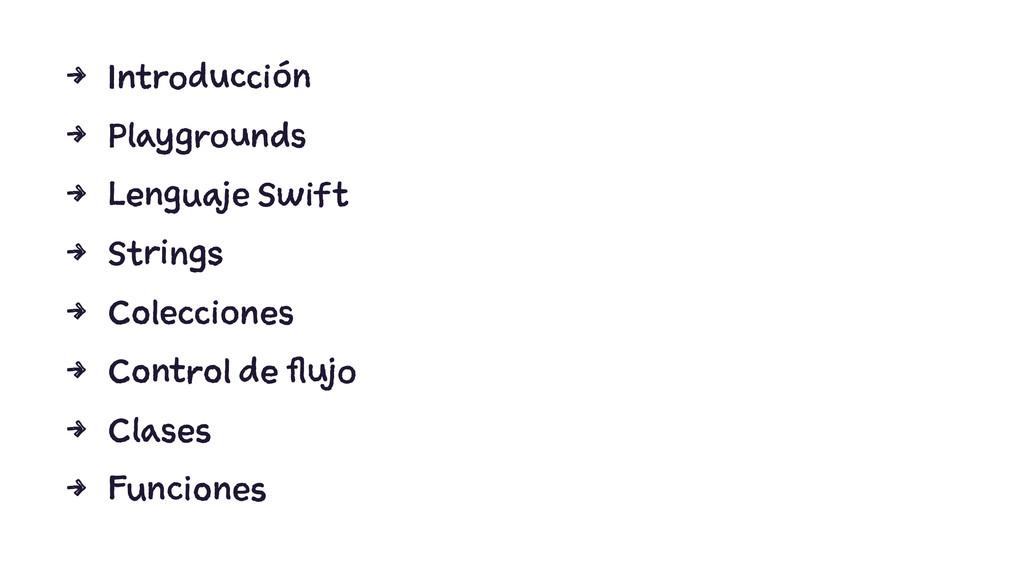 4 Introducción 4 Playgrounds 4 Lenguaje Swift 4...