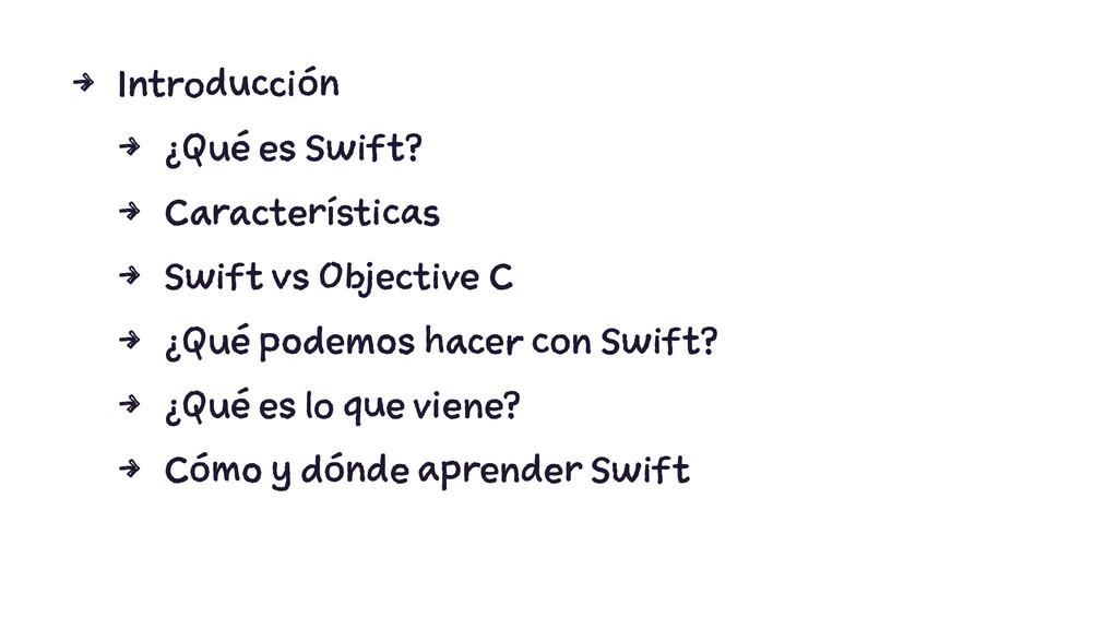4 Introducción 4 ¿Qué es Swift? 4 Característic...