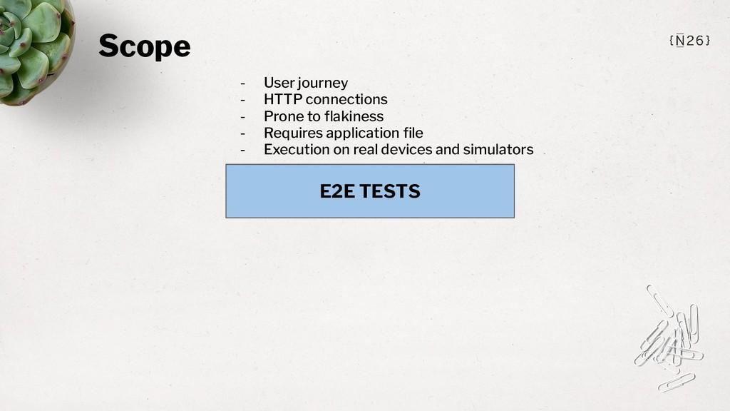 Scope E2E TESTS - User journey - HTTP connectio...