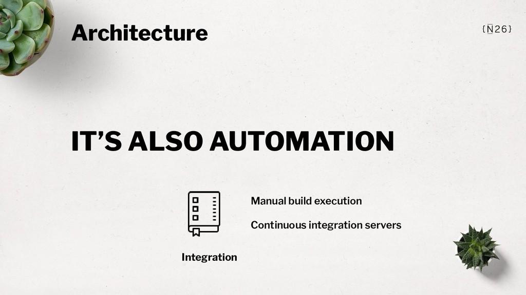 Architecture Integration Manual build execution...