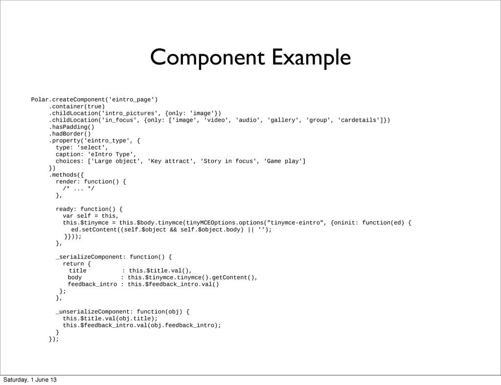 Component Example Polar.createComponent('eintro...