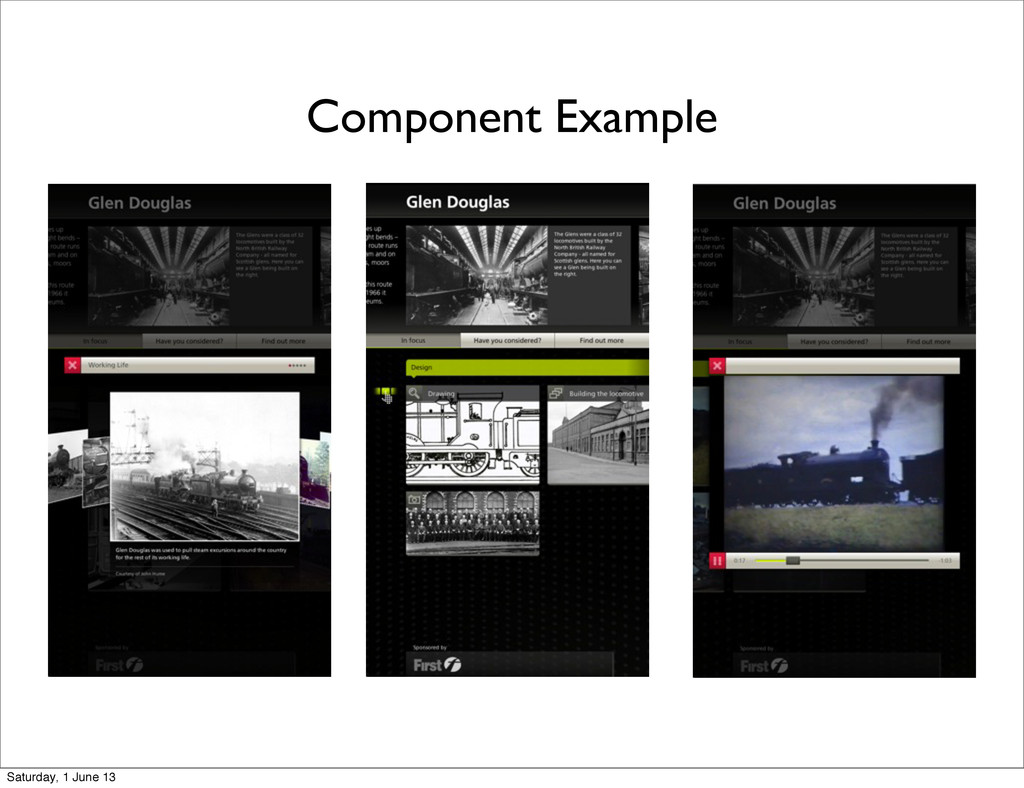 Component Example Saturday, 1 June 13