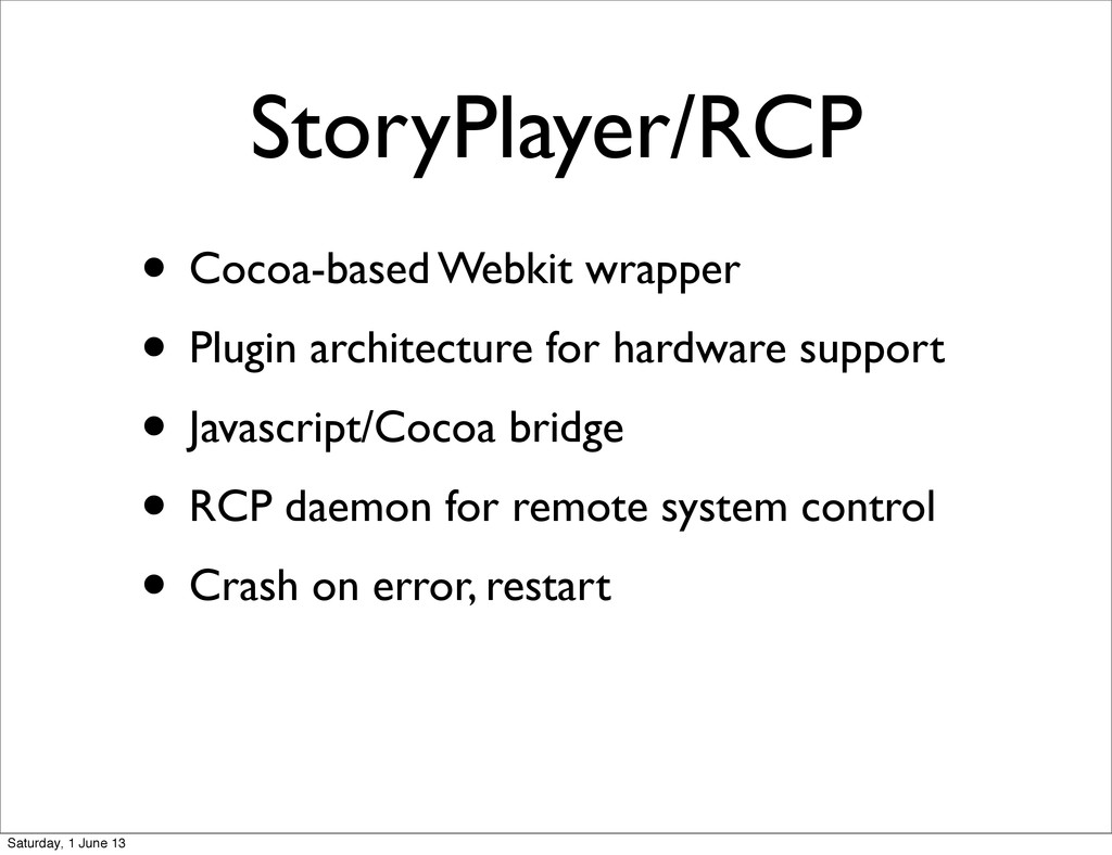 StoryPlayer/RCP • Cocoa-based Webkit wrapper • ...