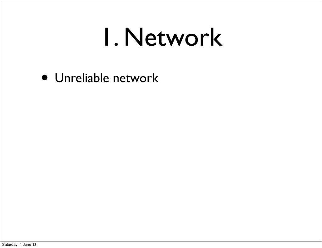 1. Network • Unreliable network Saturday, 1 Jun...