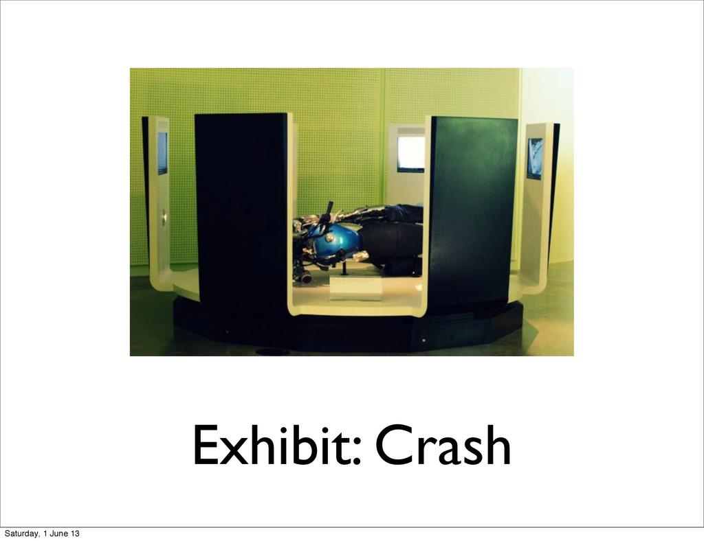 Exhibit: Crash Saturday, 1 June 13