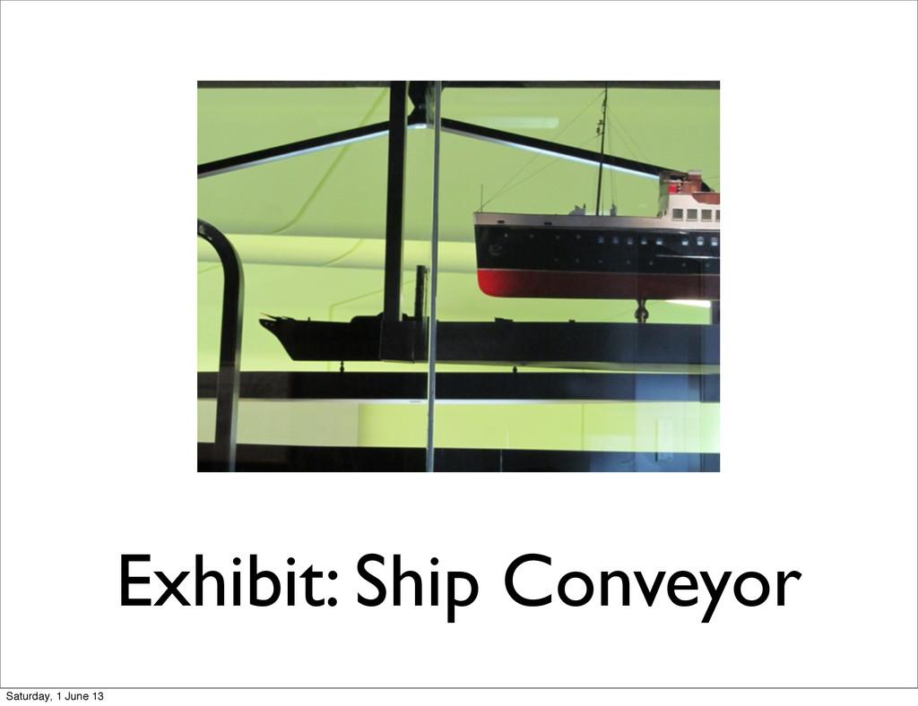 Exhibit: Ship Conveyor Saturday, 1 June 13