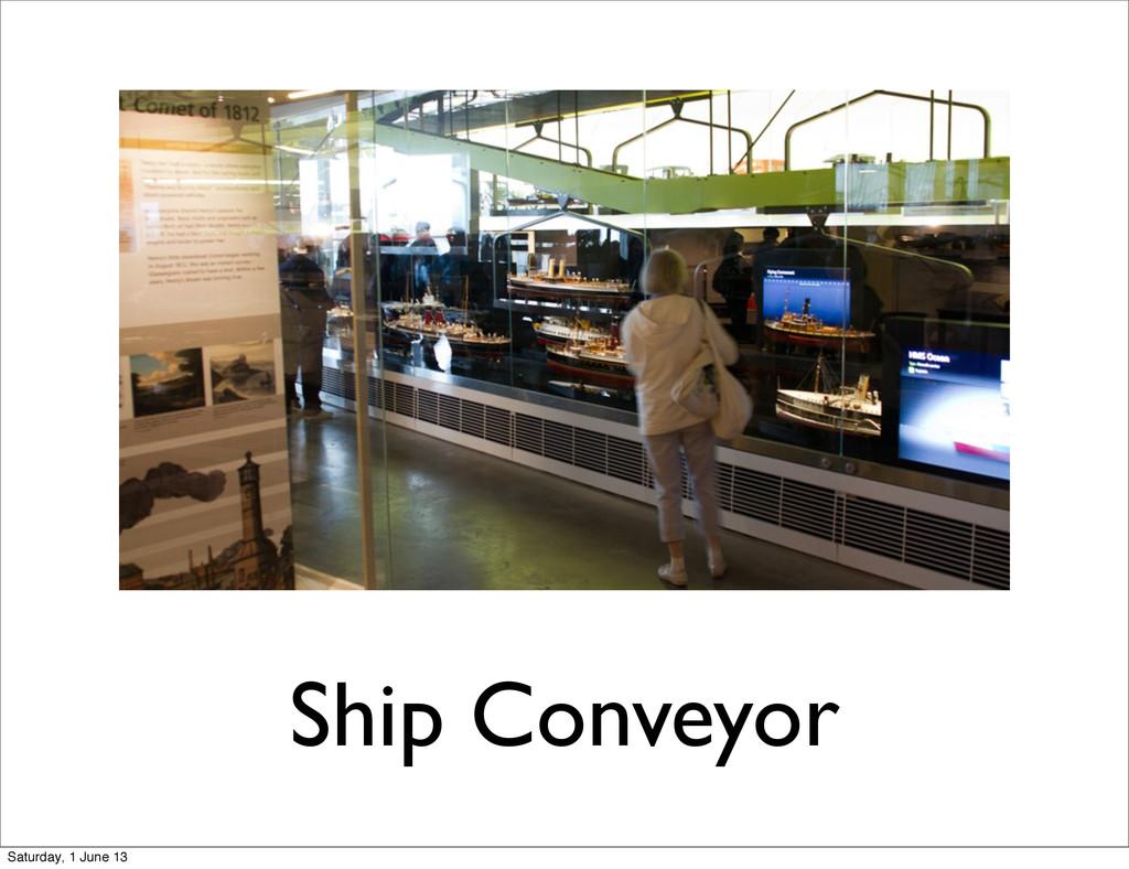 Ship Conveyor Saturday, 1 June 13