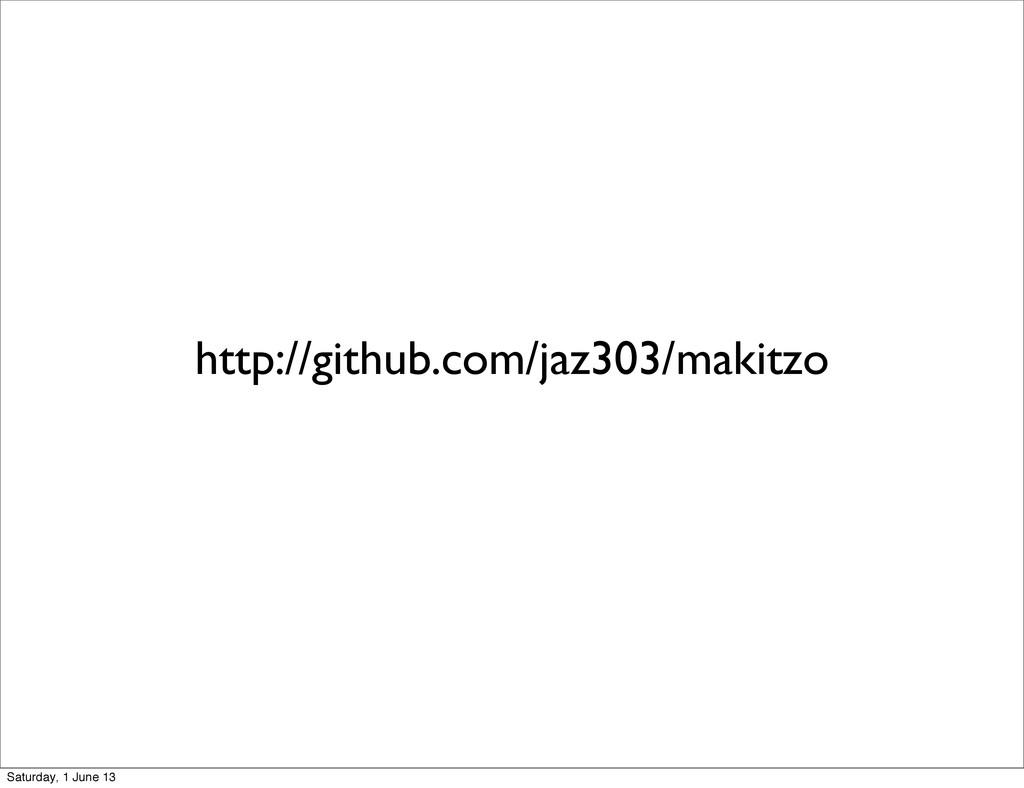http://github.com/jaz303/makitzo Saturday, 1 Ju...