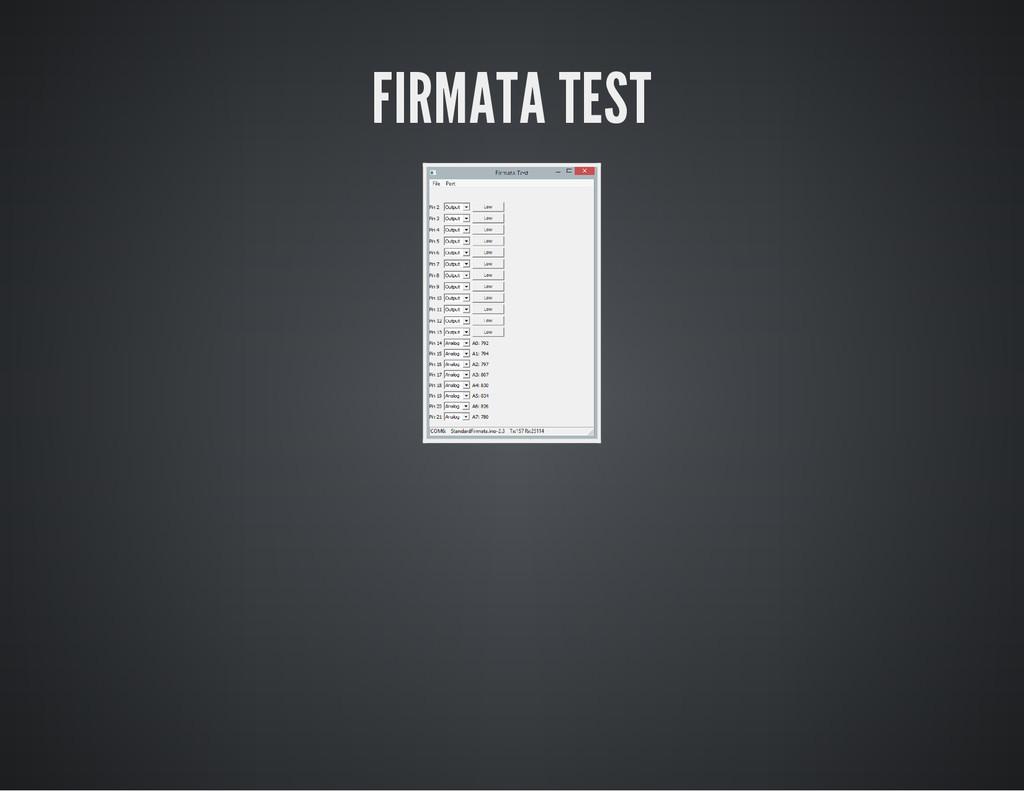 FIRMATA TEST