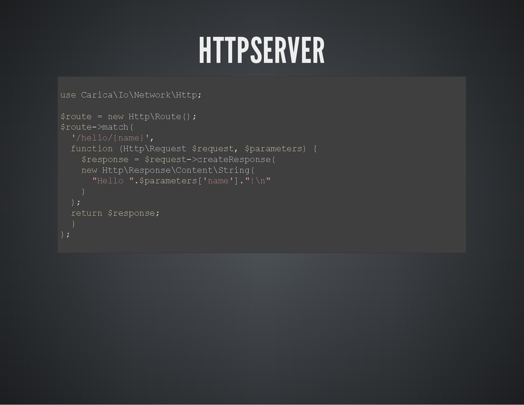 HTTPSERVER u s e C a r i c a \ I o \ N e t w o ...