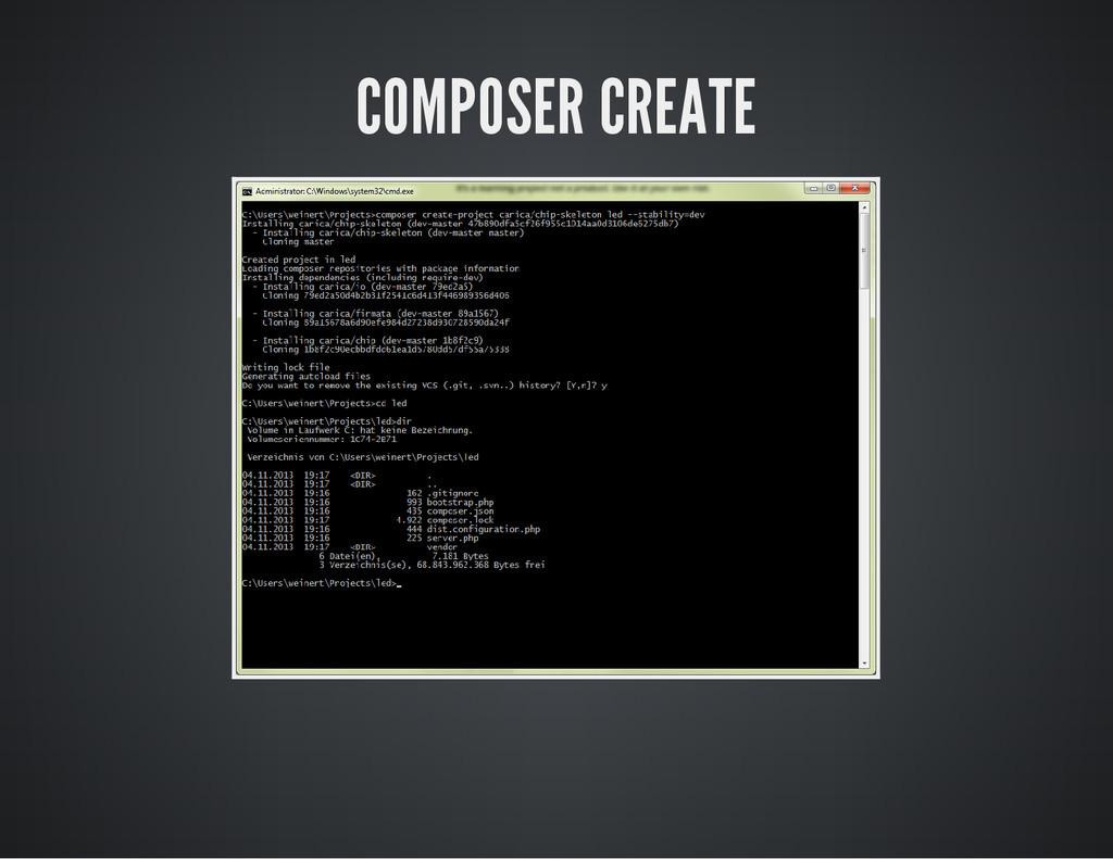 COMPOSER CREATE