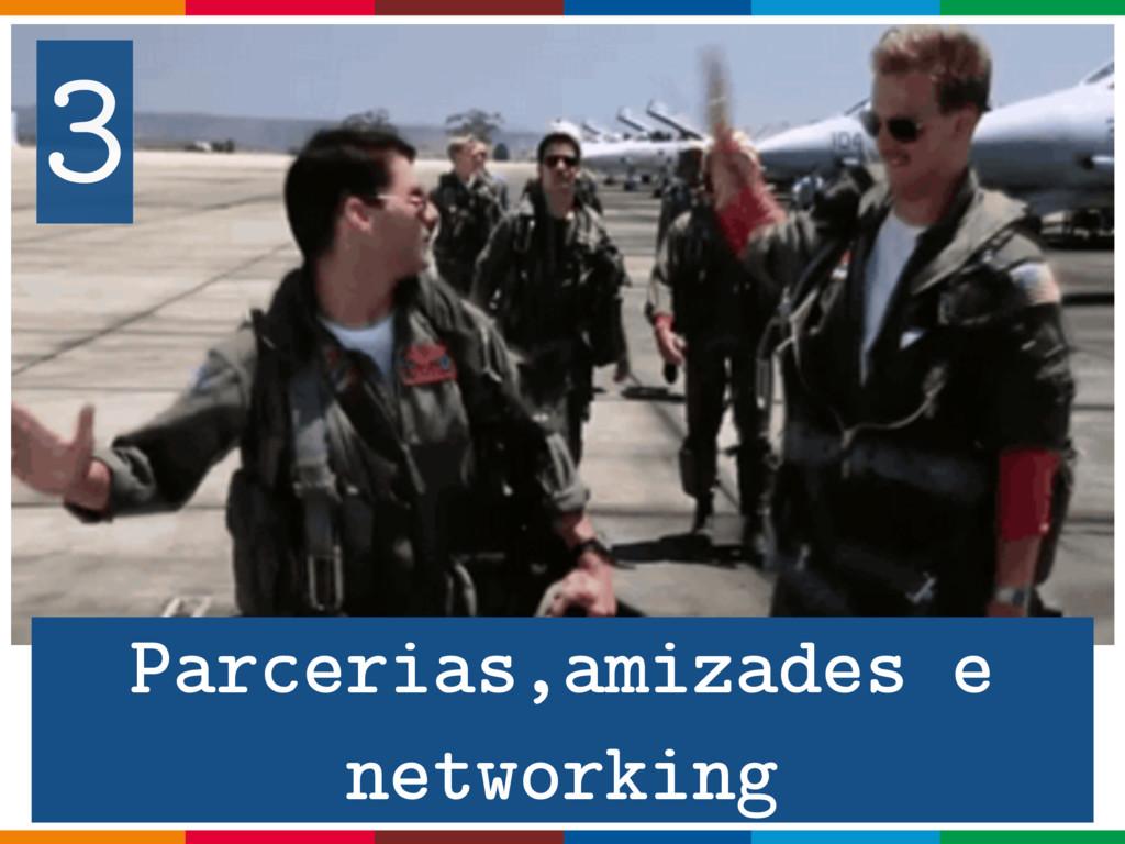 3 Parcerias,amizades e networking
