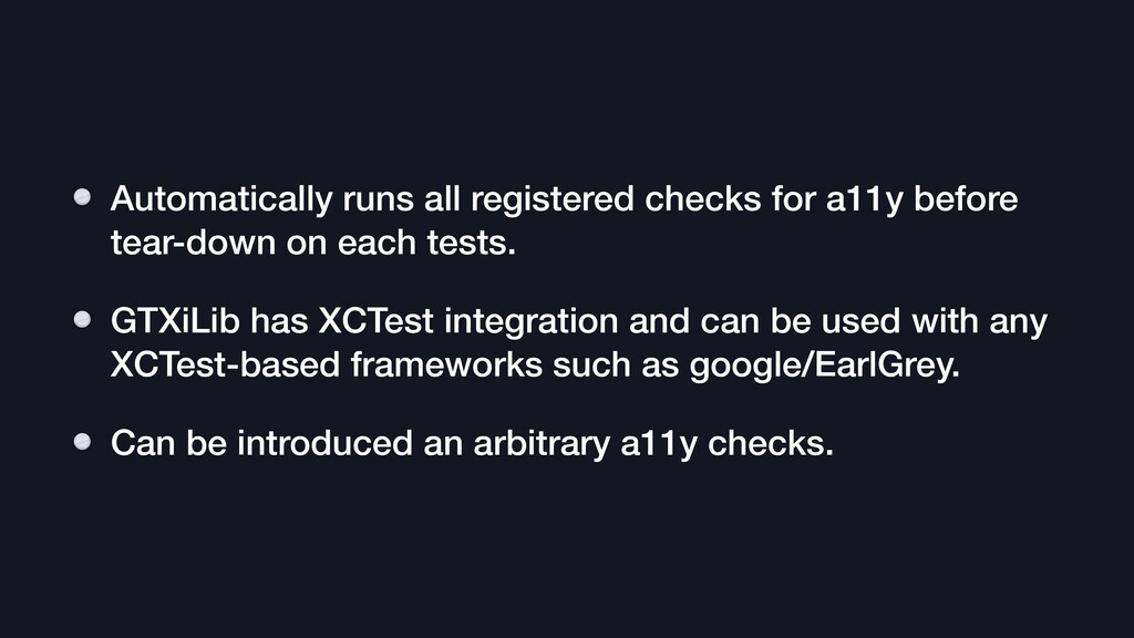 Automatically runs all registered checks for a1...