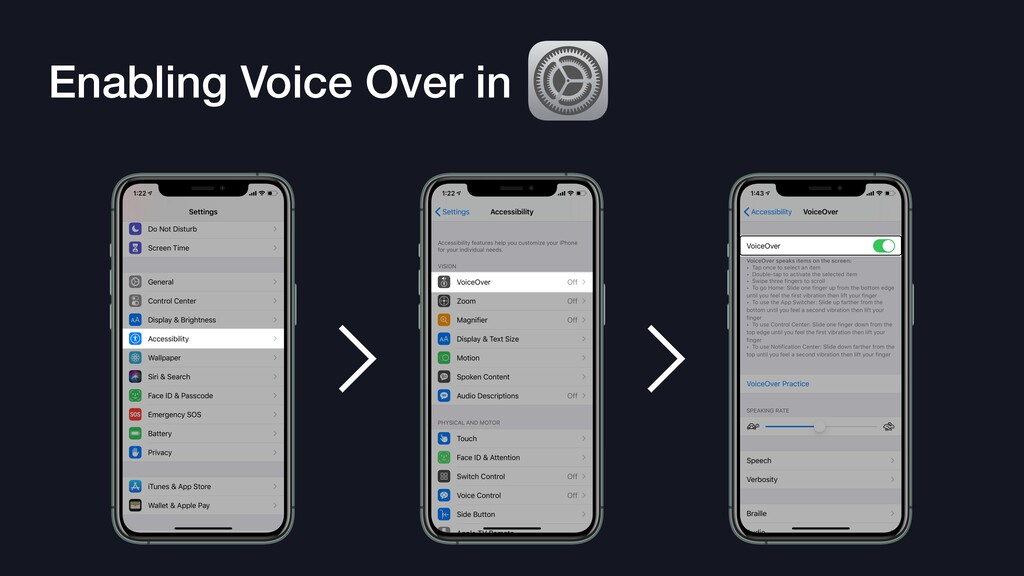 Enabling Voice Over in