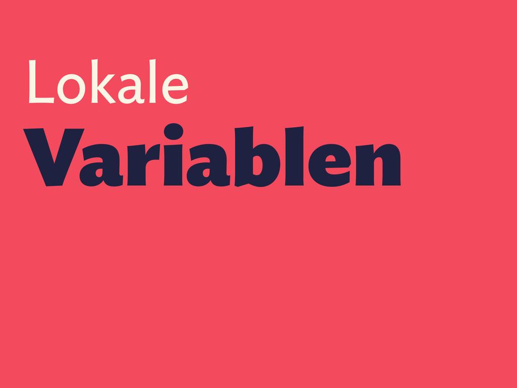 Lokale Variablen