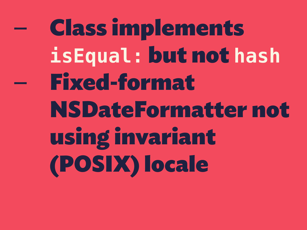 — Class implements isEqual: but not hash — Fixe...