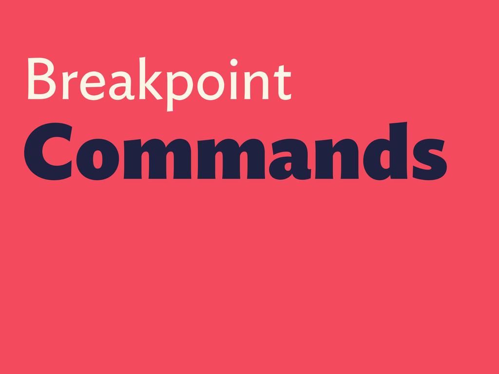 Breakpoint Commands
