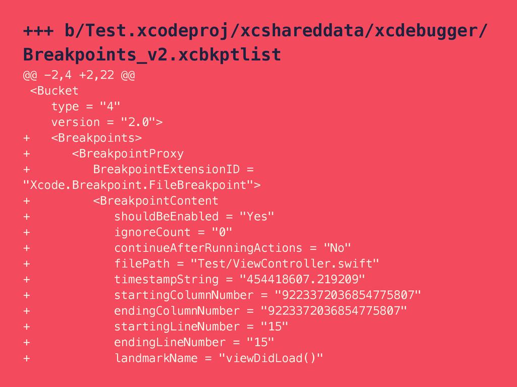 +++ b/Test.xcodeproj/xcshareddata/xcdebugger/ B...