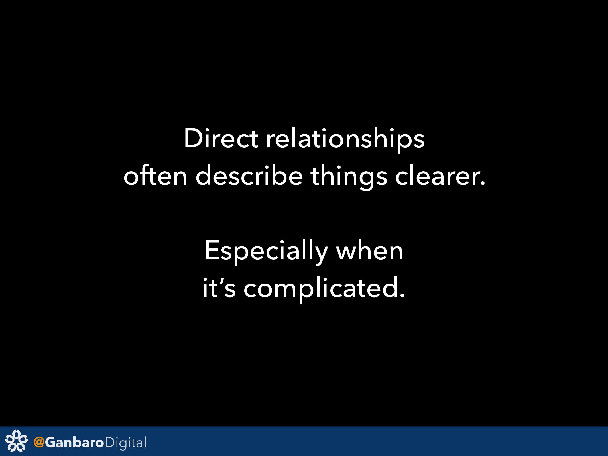 @GanbaroDigital Direct relationships often desc...