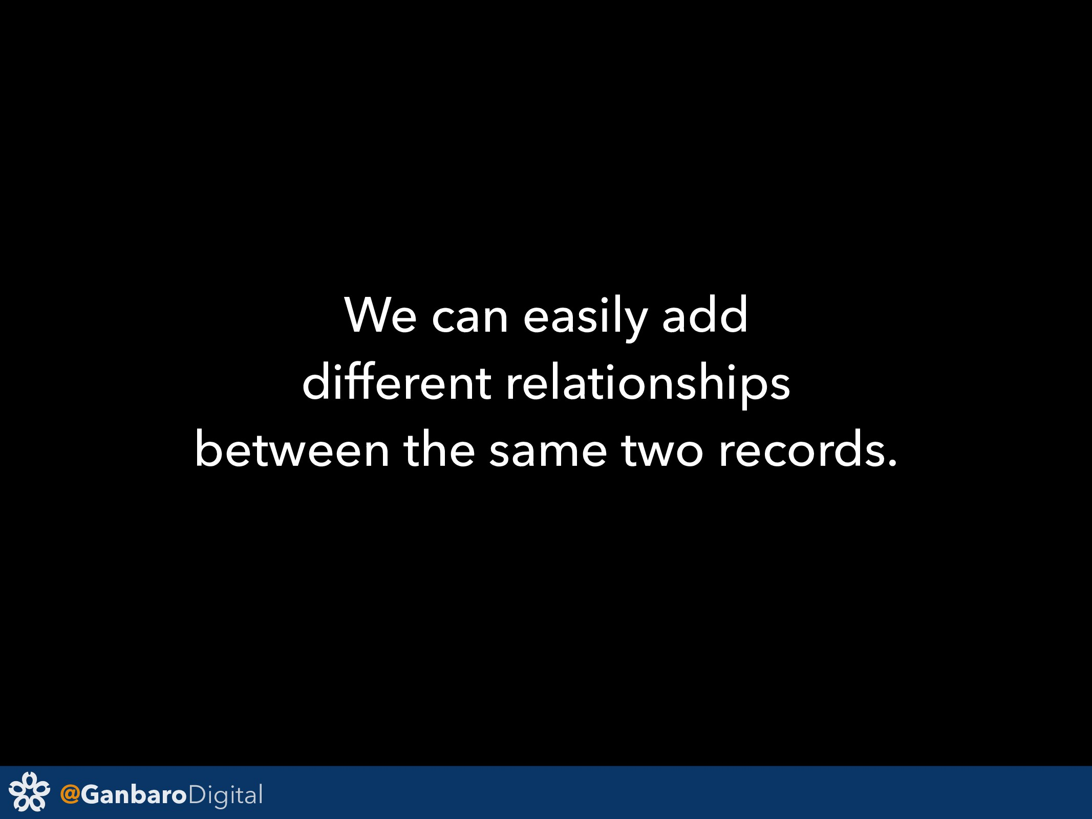 @GanbaroDigital We can easily add different rel...
