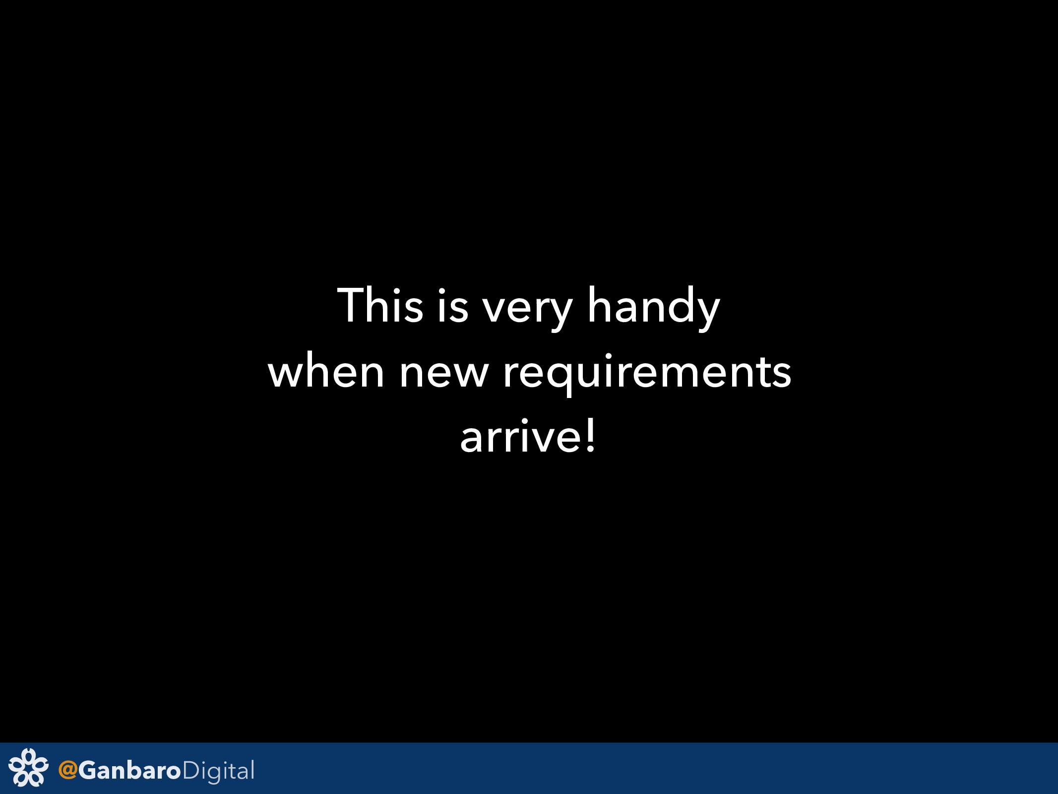 @GanbaroDigital This is very handy when new req...