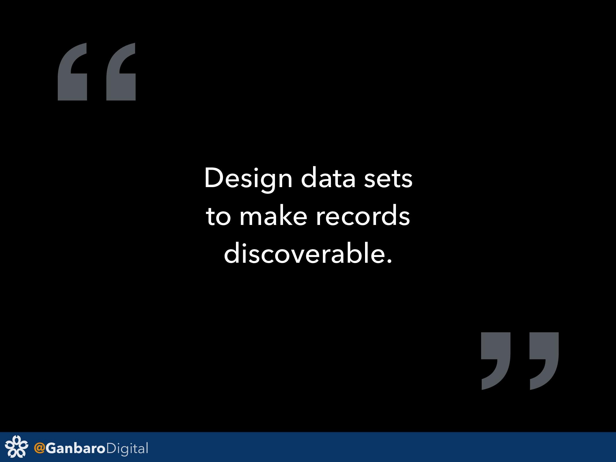 "@GanbaroDigital "" Design data sets to make reco..."
