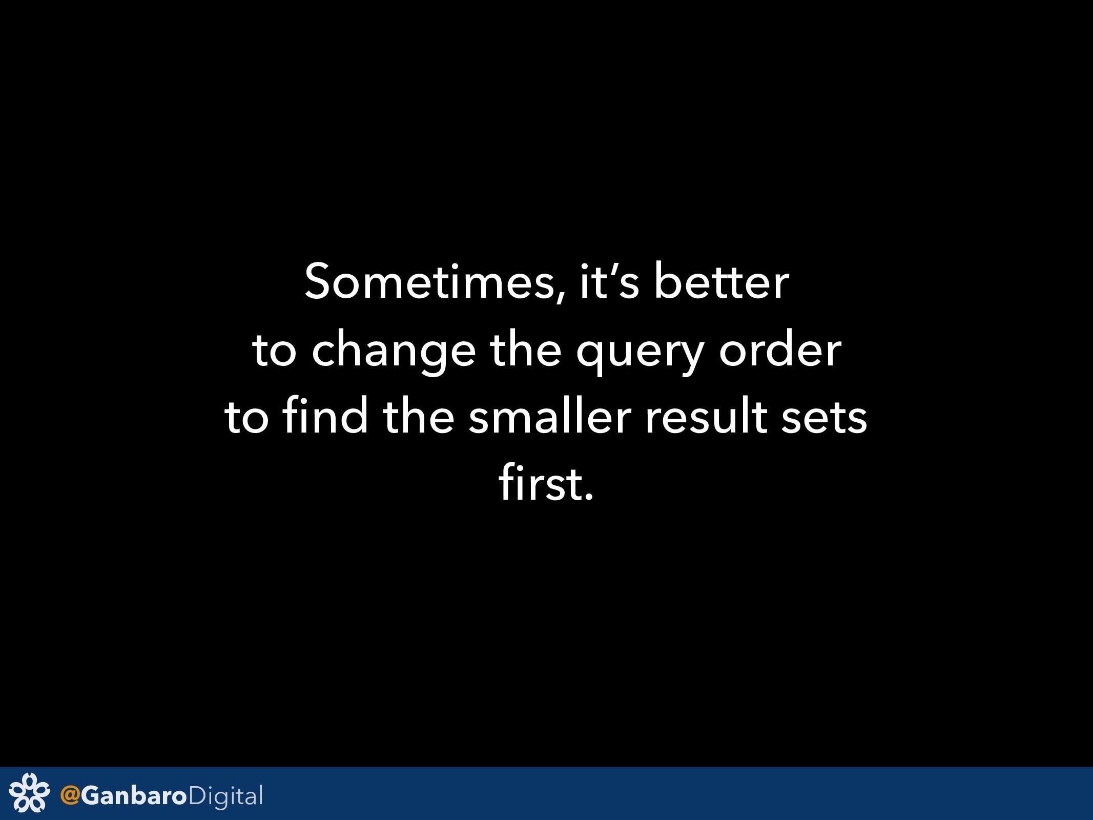 @GanbaroDigital Sometimes, it's better to chang...