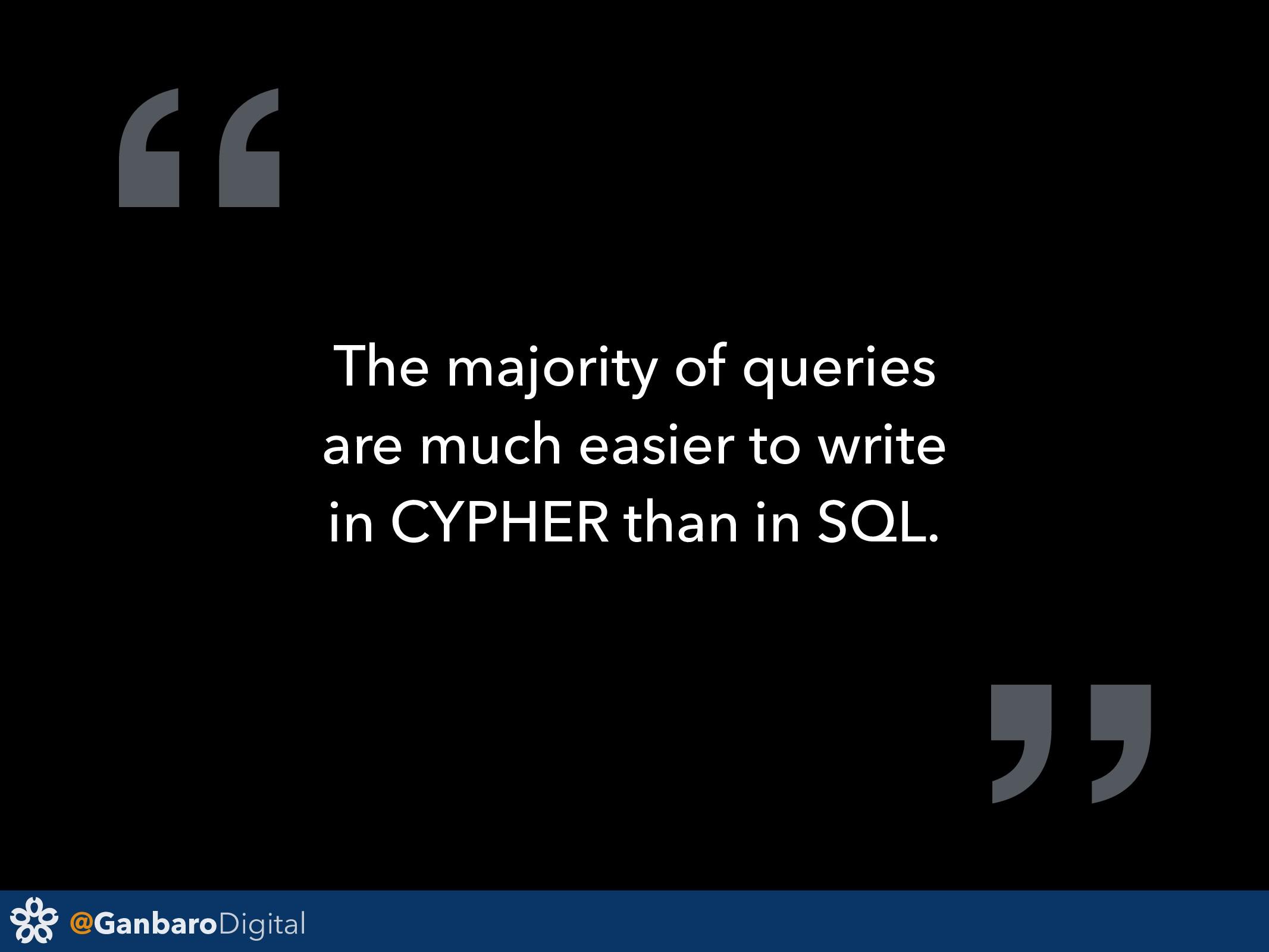 "@GanbaroDigital "" The majority of queries are m..."